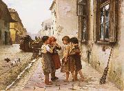 Mancini, Antonio On the street oil painting artist